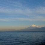 大瀬外海からの富士山